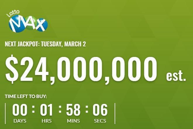 Canada Lotto Max March 2 2021 Winning Numbers