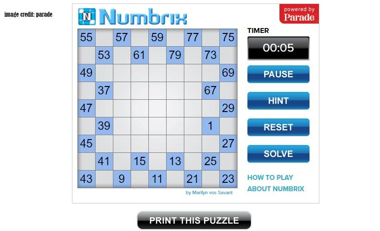Numbrix March 22 2021