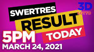 Swertres Result March 24 2021 Confirmed Today