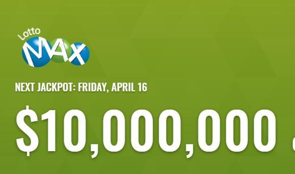 Lotto Max Winning Numbers For April 16 2021