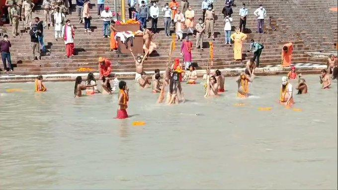 The last shahi snan of Kumbh Mela 2021