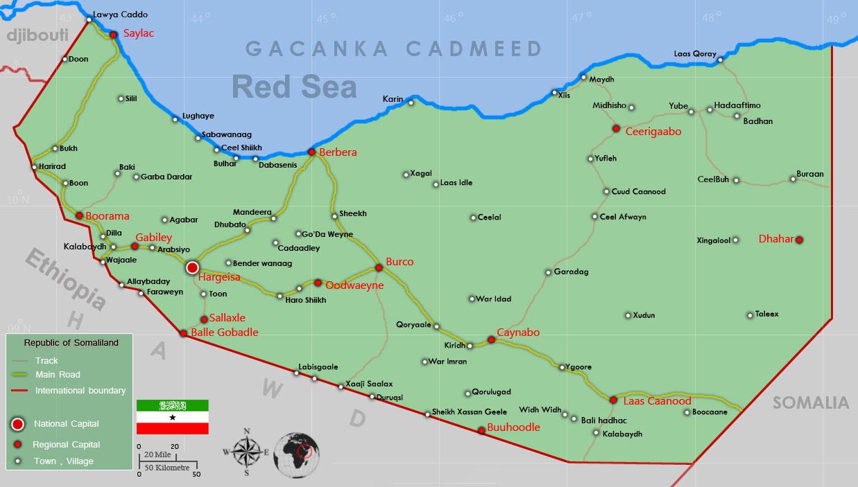 somaliland map