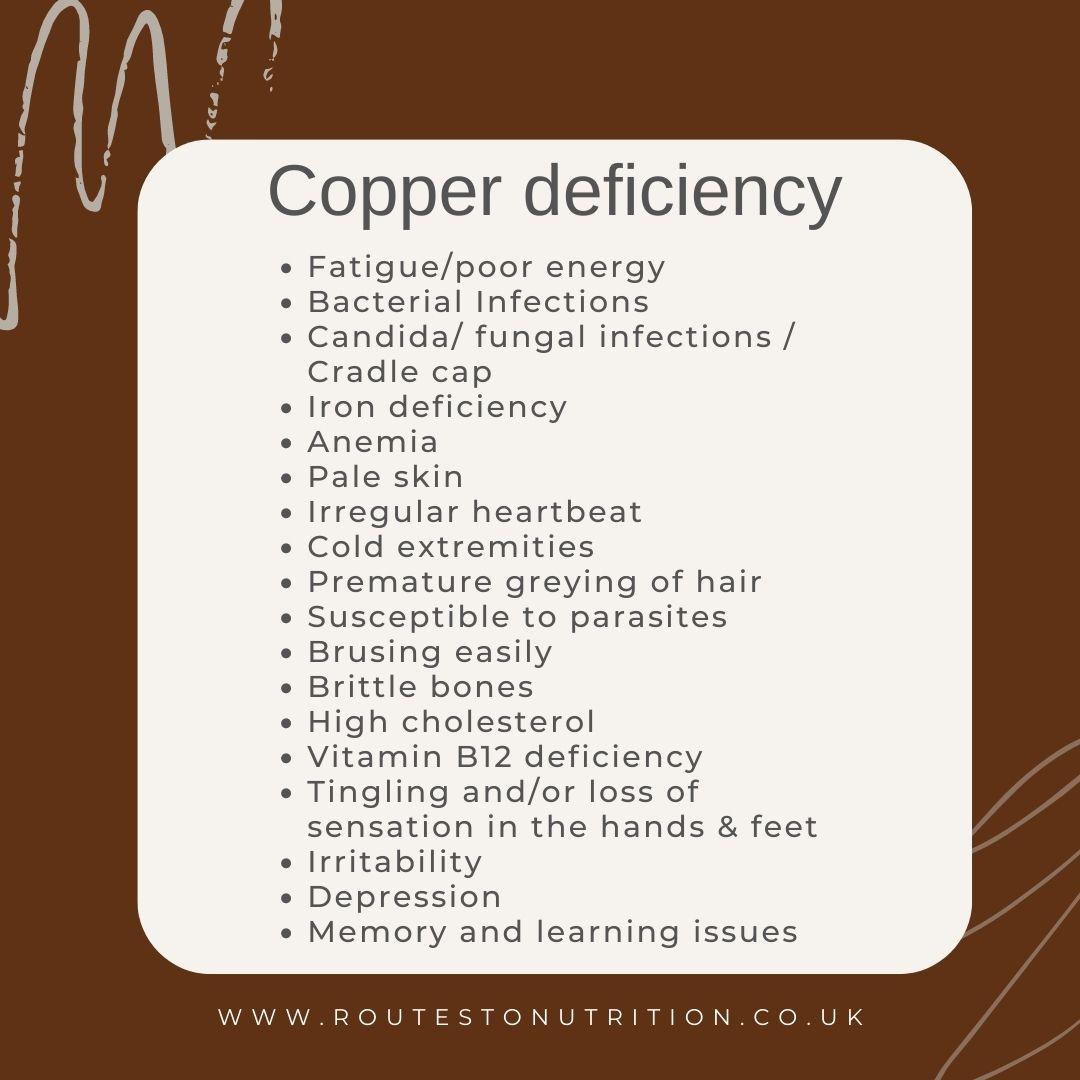 Copper deficiency symptoms