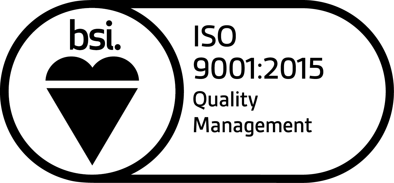 BSI ISO 9001:2015 Quality Management Certified Logo