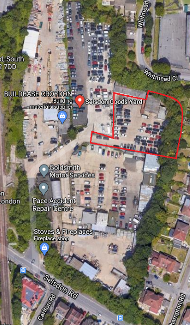 Secure Open Storage  with Workshop / Warehouse – 0.6 acres – Croydon CR2