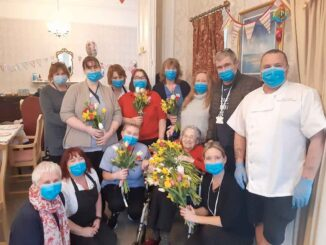 Pinhay House resident Hettie Unwin celebrates her 100th birthday