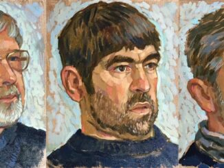 Portraits of Lyme Regis lifeboat crew members