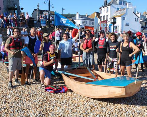 Lyme Regis Boat Building Academy with their bathtub race entry