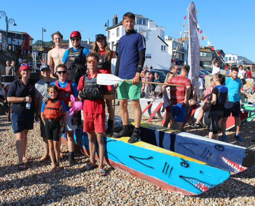 Lyme Regis Sailing Club Youth Section's entry to the bathtub race