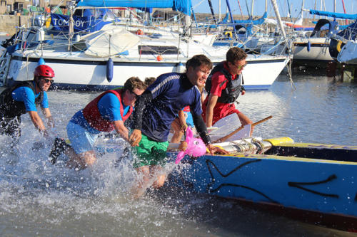 Lyme Regis Sailing Club Youth Section win the race