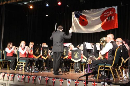 Lyme Regis Town Band led the musical programme