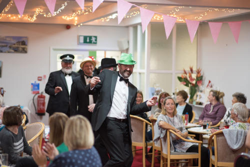 Outgoing club captain Lee Caddy and friends put on a surprise performance for the ladies
