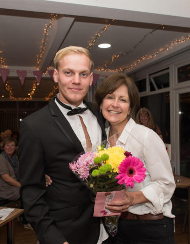 Retiring golf club bookeeper Connie Marsden was among those to receive flowers
