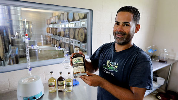 Ivan Torres, owner of Crab Island Rum