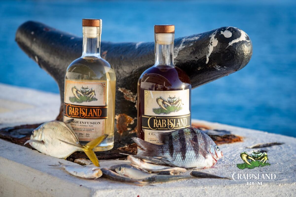 Pier fishing on Vieques with Crab Island Rum