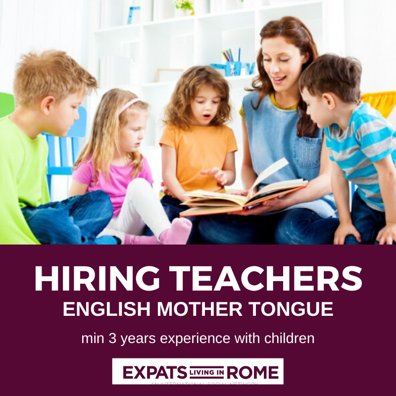 Jobs-in-Rome-Italy-for-English-speakers-mother-tongue-hiring