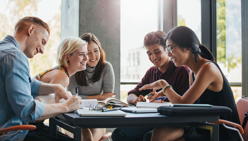 Smiling-students-collaborate-high-school-college-feature-image