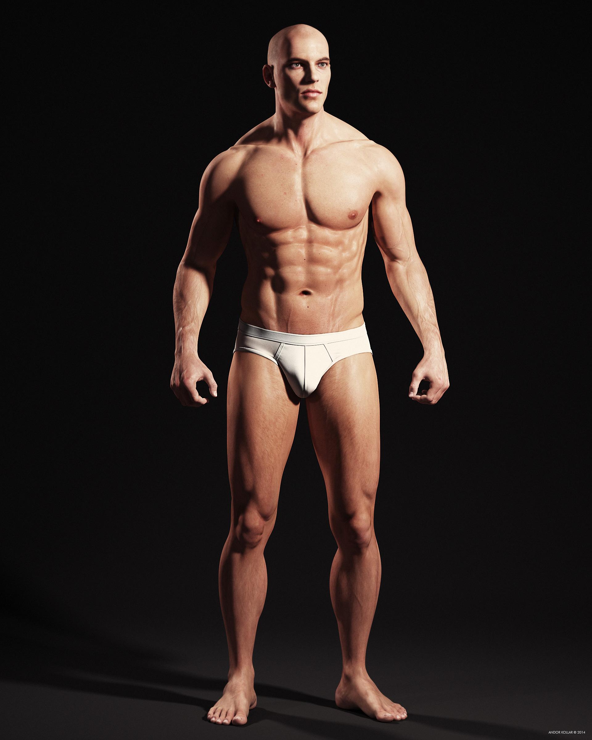 Andor Kollar Realistic Male Body 3d