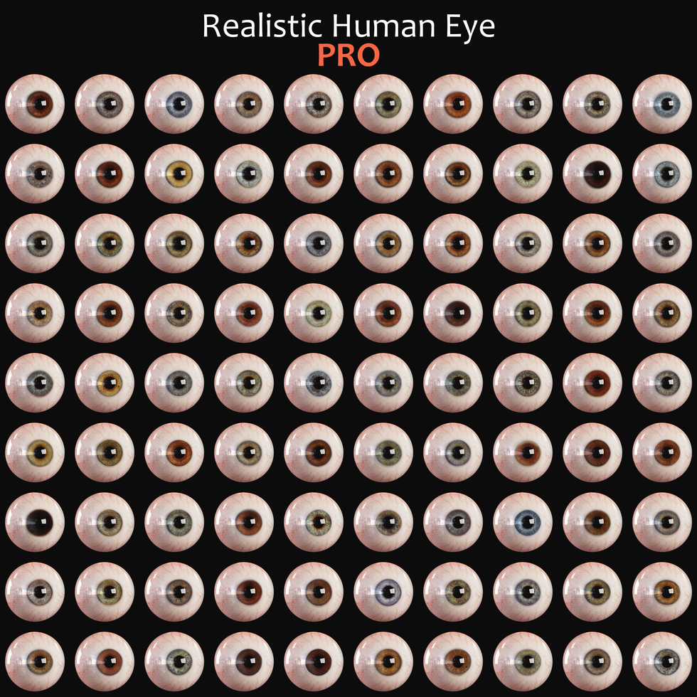 big list of eyes, lot of eyeballs in different eye colors