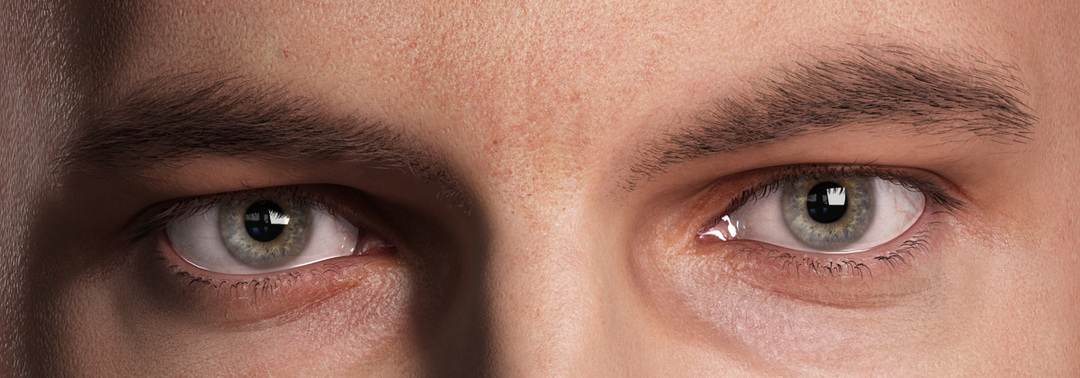 realistic 3d eye close up