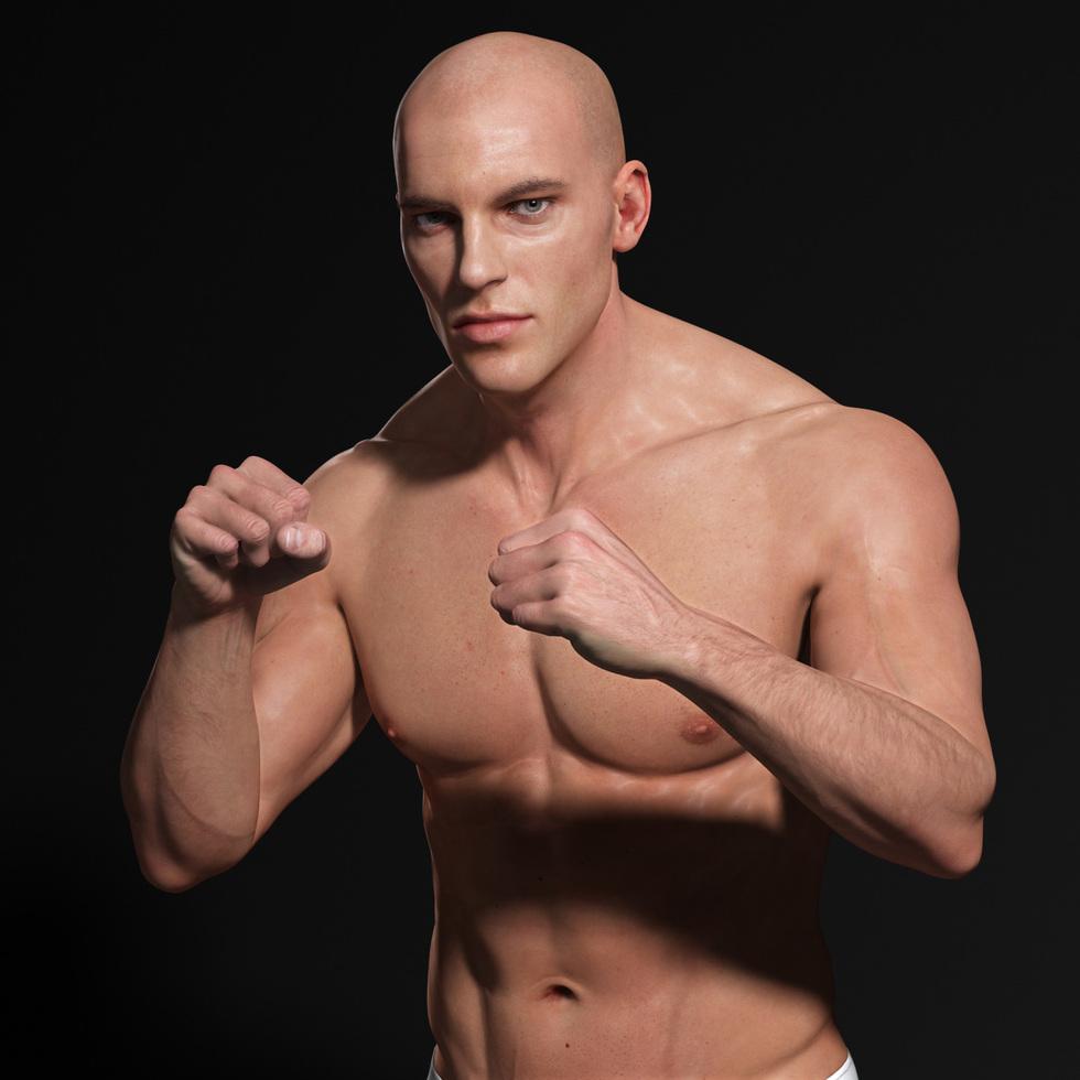male body fight 3d