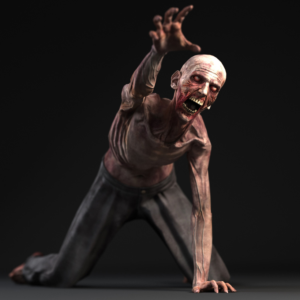 3d zombie attacking