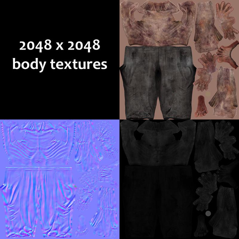 zombie body textures