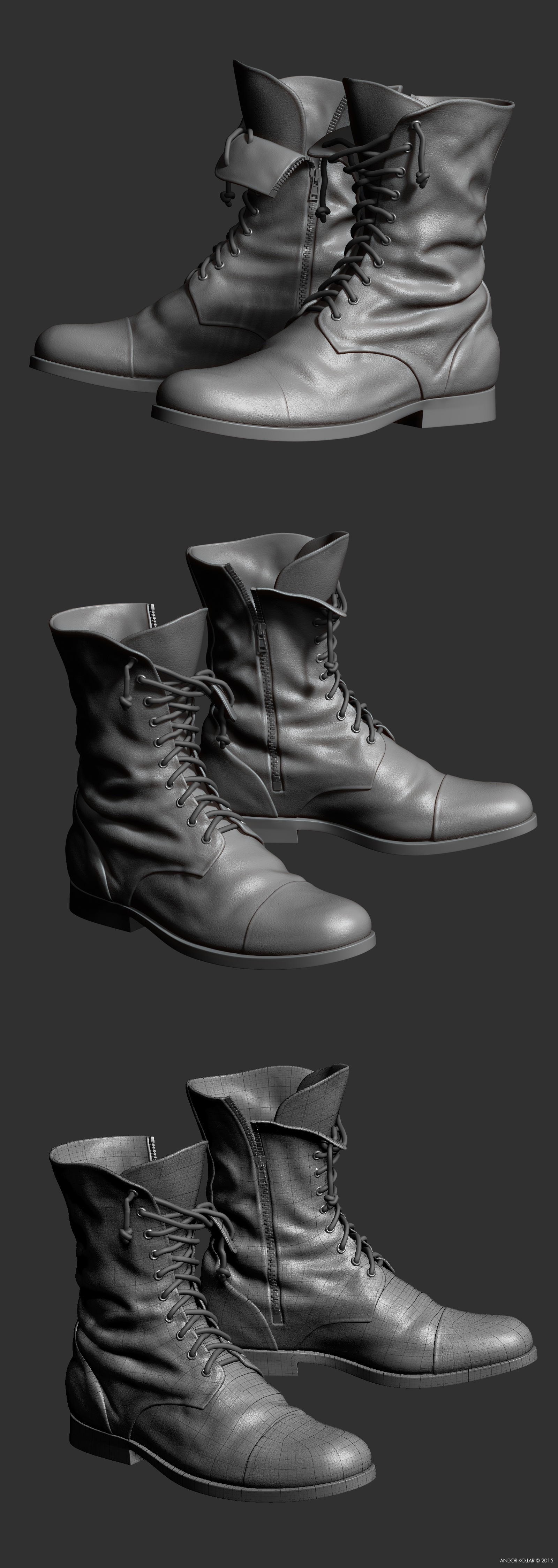 ZBrush military boots