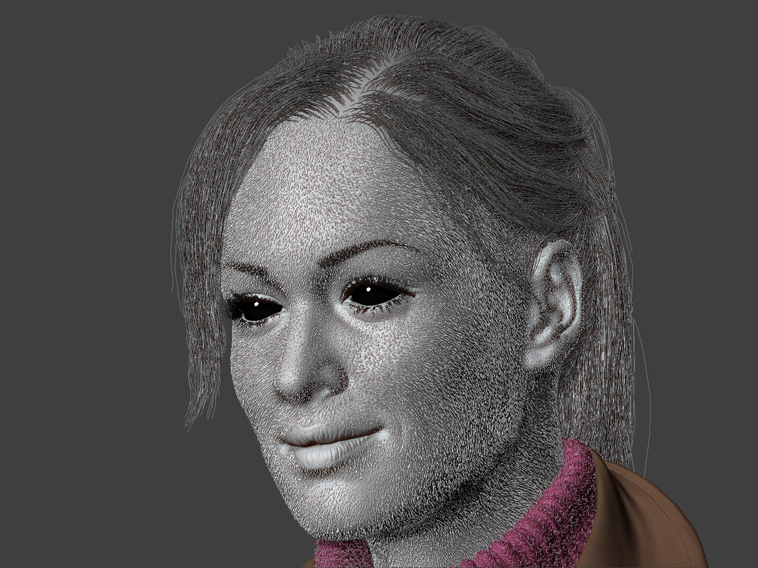 zbrush peach fuzz and hair with fiber mesh
