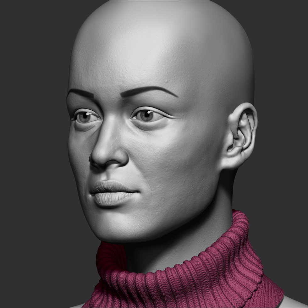 ZBrush girl head