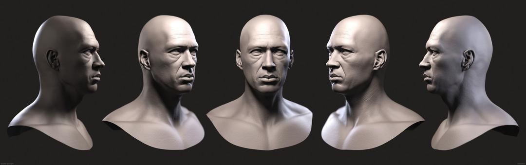 3d David Carradine Keyshot render