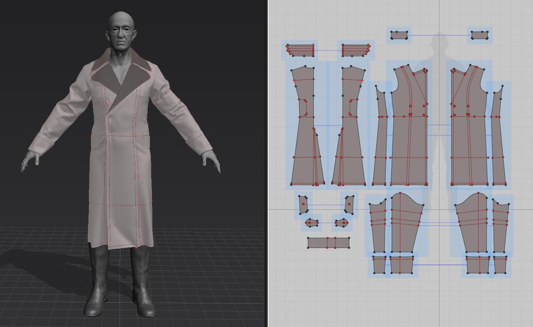Coat Marvelous Designer Pattern