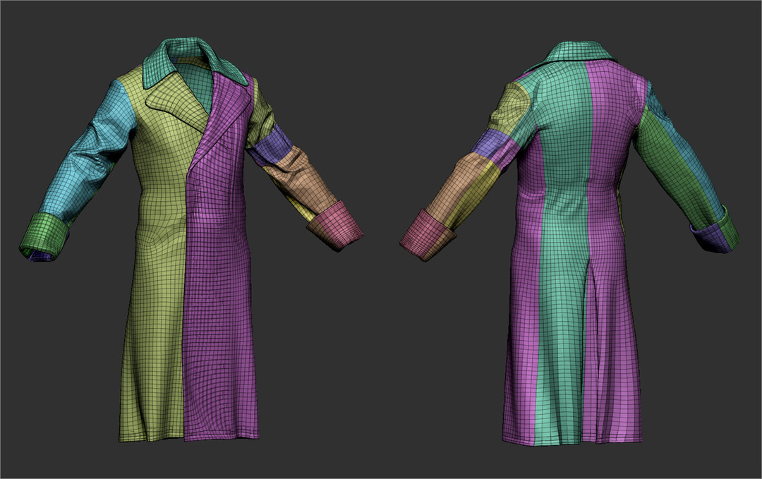 Coat Polygroups in ZBrush