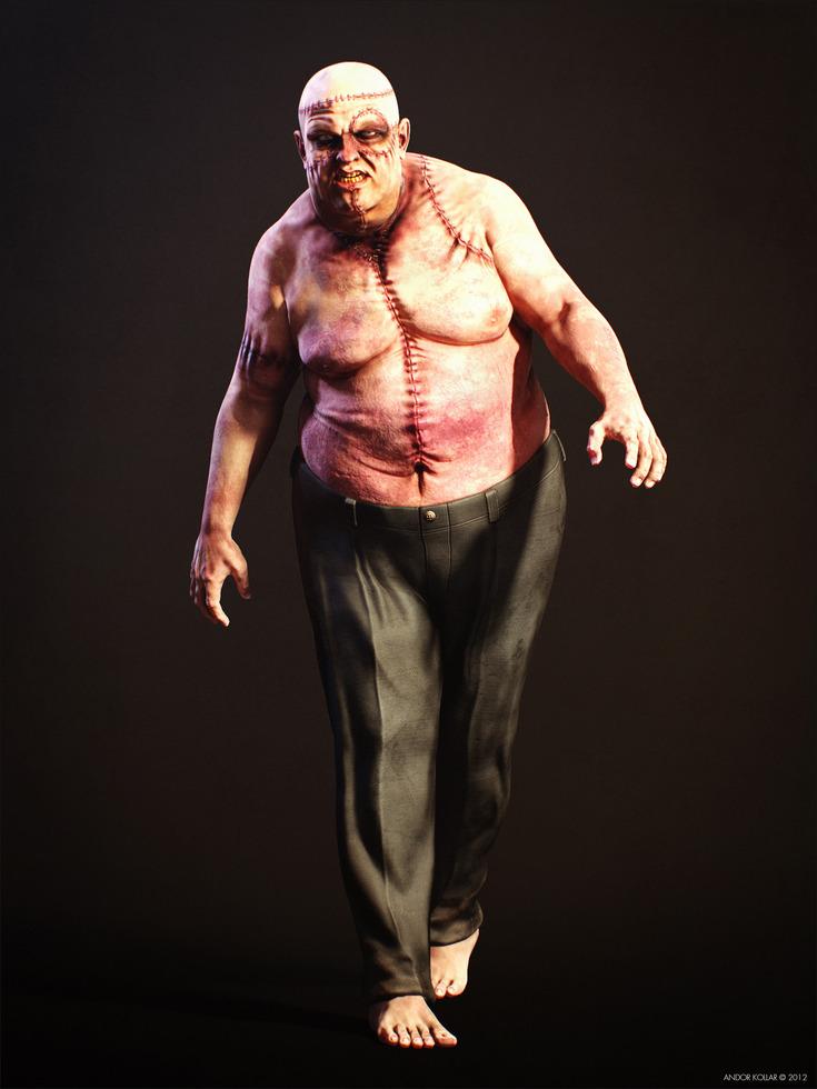 Walking Ugly Big Fat Monster Frankenstein Creature