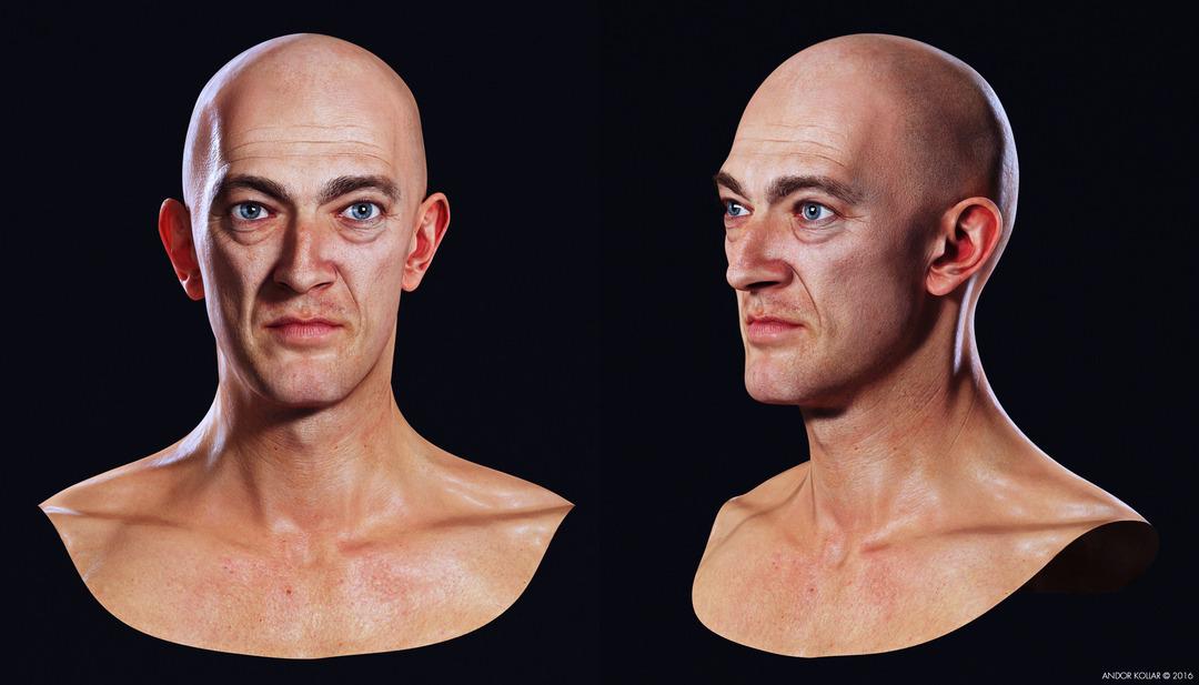 Vincent Cassel 3d head