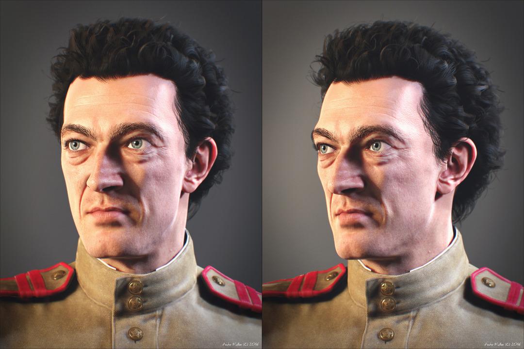Vincent Cassel Soldier Portrait