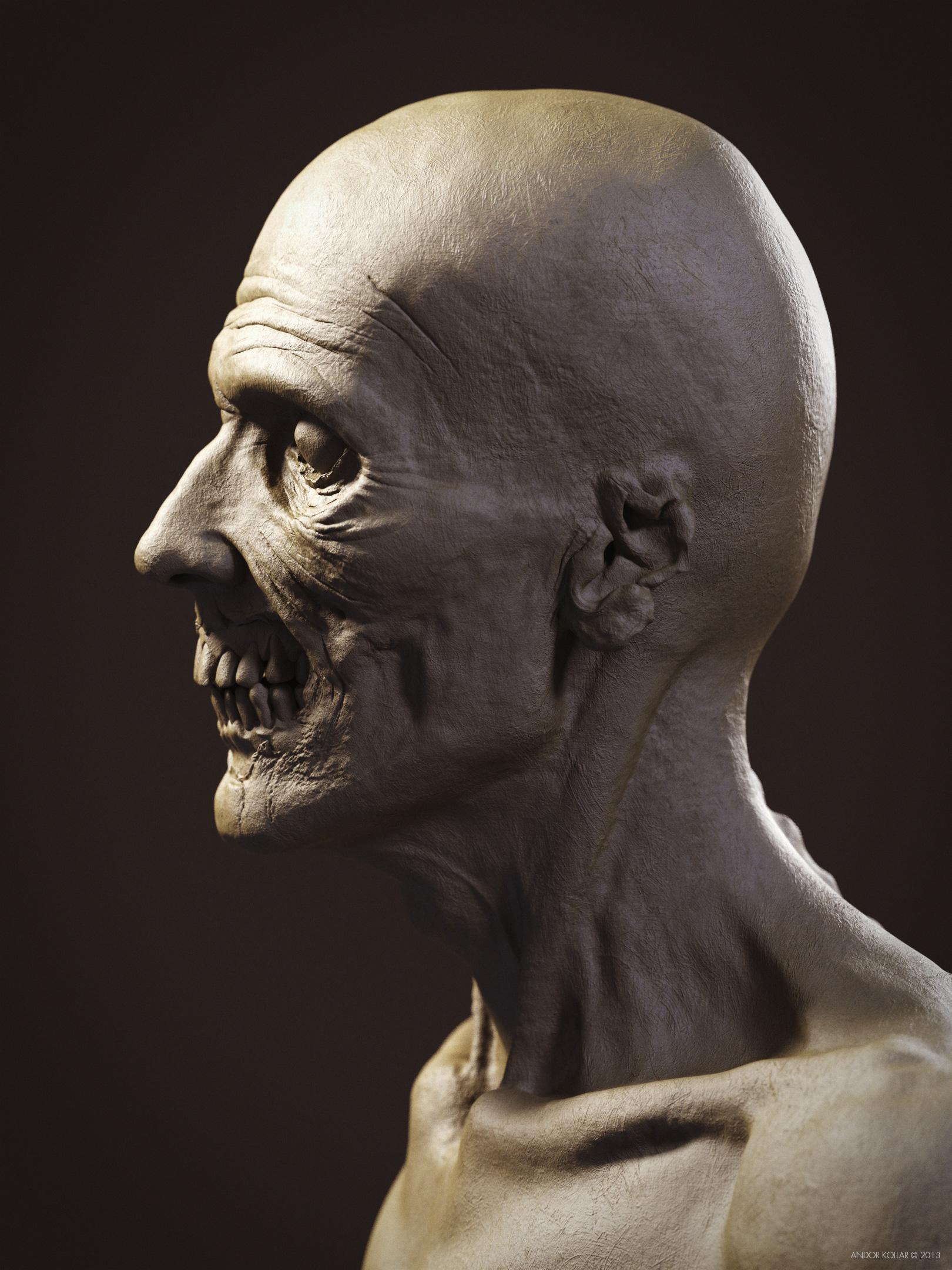 Undead Skull Zombie ZBrush Keyshot