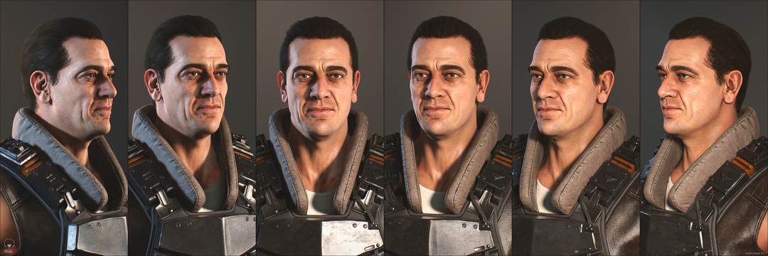 3d game soldier with the face of Jeffrey Dean Morgan