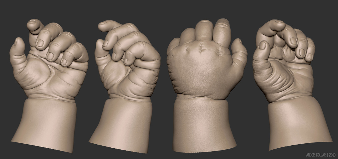 3d baby hand