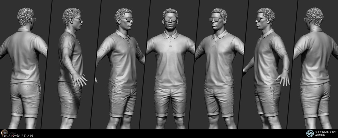 ZBrush sculpting of Brad. He is character from The Dark Pictures - Man of Medan game.