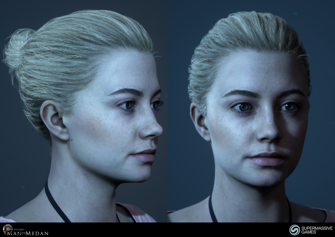 Julia is character in The Dark Pictures - Man of Medan game in Unreal Engine. She is a beautiful girl with blonde bun hair.