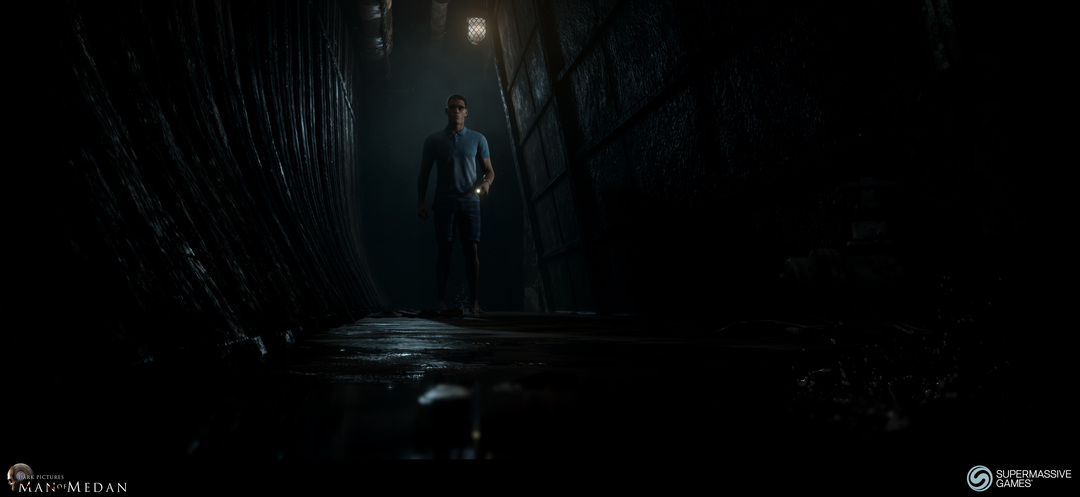 Dark Pictures - Man of Medan. Brad on the ghost ship.