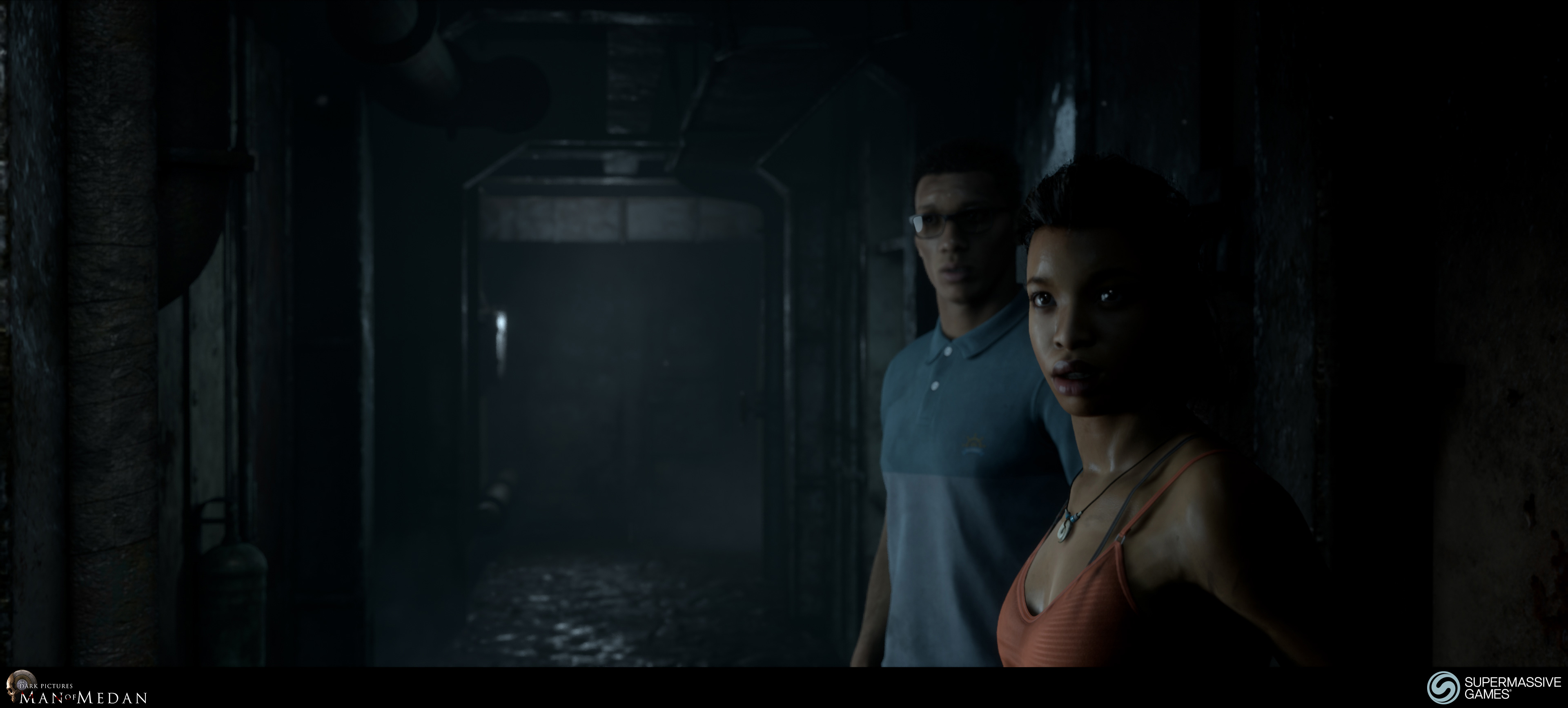 The Dark Pictures - Man of Medan. Fliss and Brad on the ghost ship.