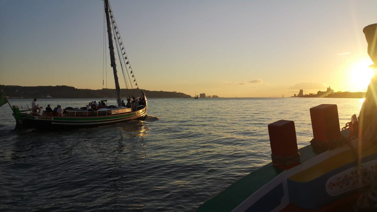 Sunset Cruise on the Tagus River in Portugal