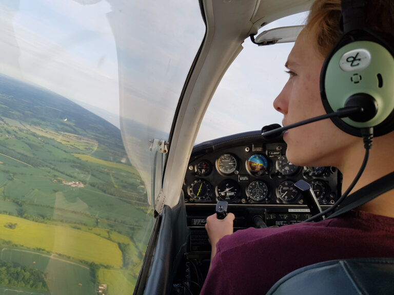 Flying over Gloucestershire