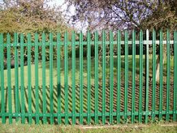 Green Palisade Fence