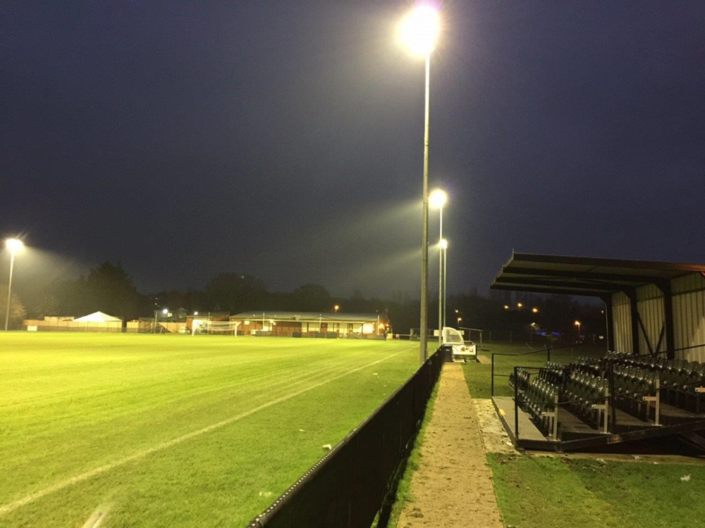 Stands at Abbey at night