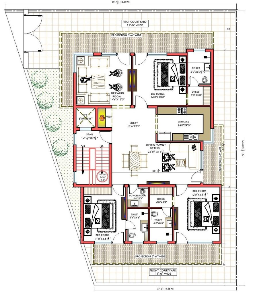 Builder Floor Floor Plan