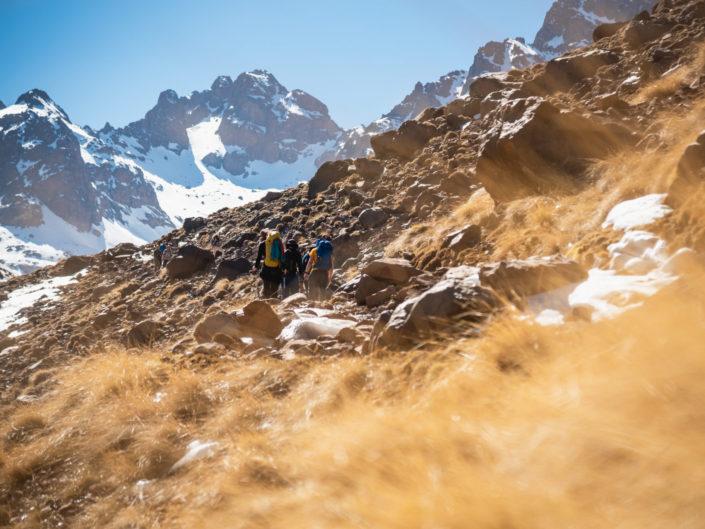Climbing Toubkal