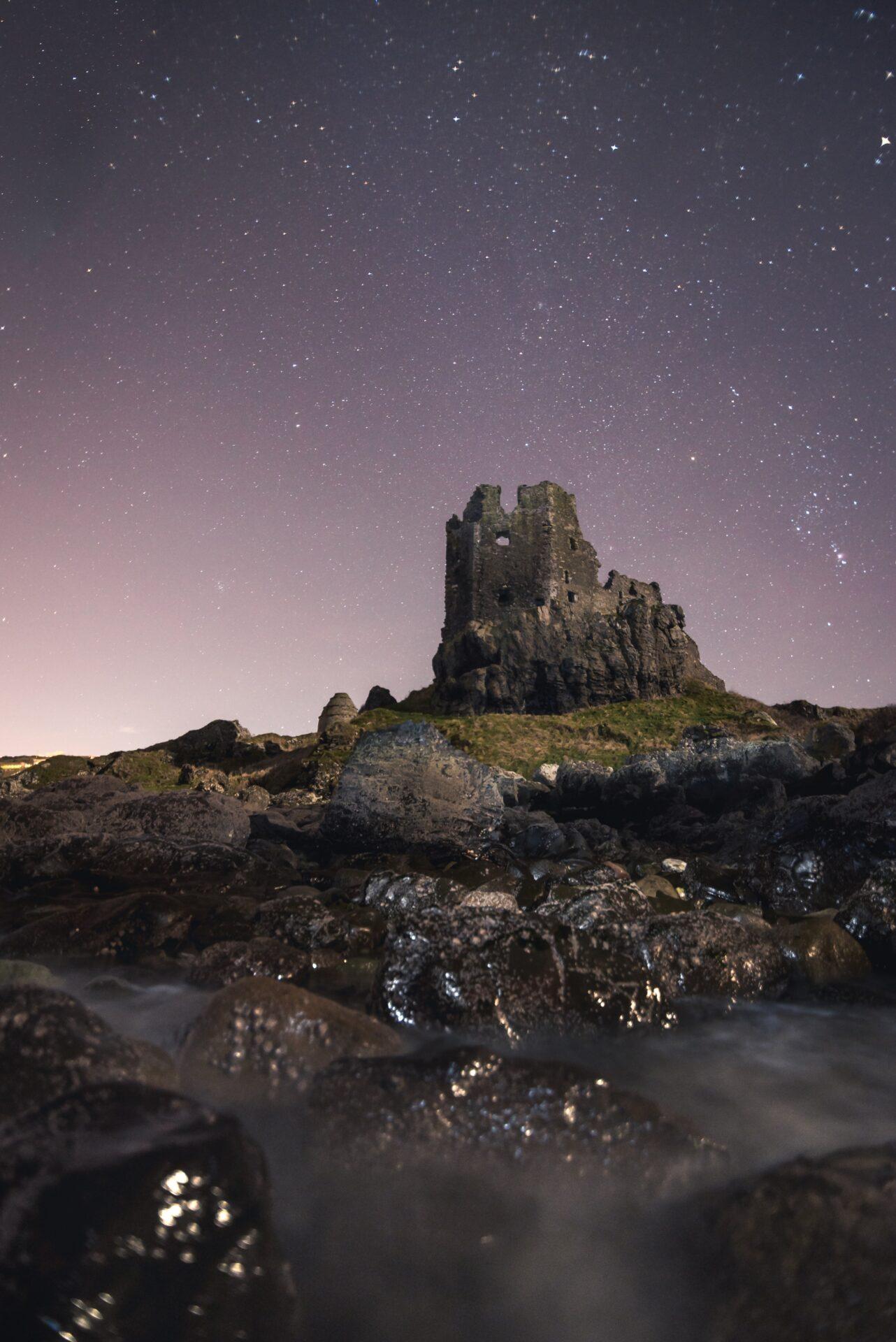 Greenan Castle at Night